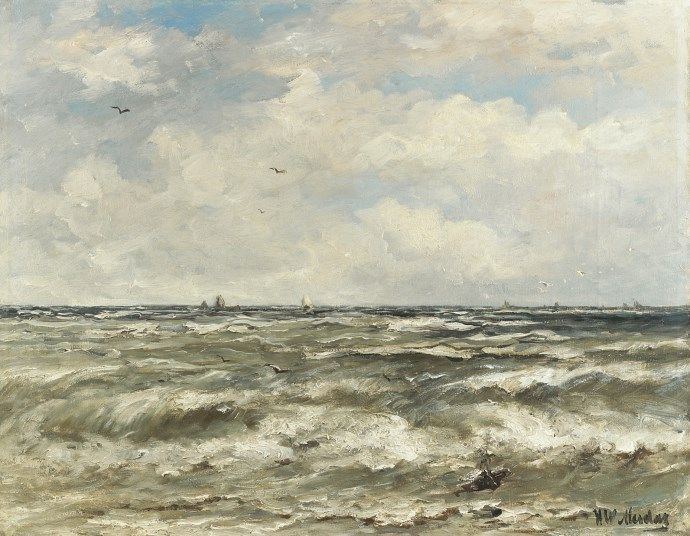 Hendrik Willem Mesdag (Groningen 1831-1915 Den Haag) At sea - Dutch Art Gallery Simonis and Buunk Ede, Netherlands.