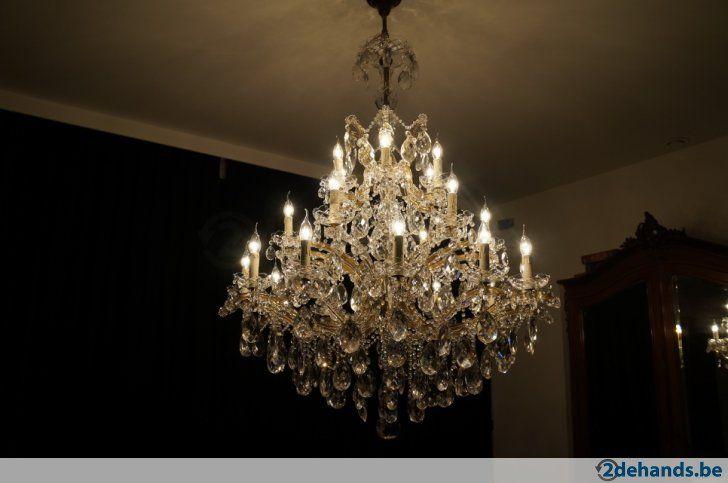 Enorme OUDE kristallen luster met 24 lampen - Te koop