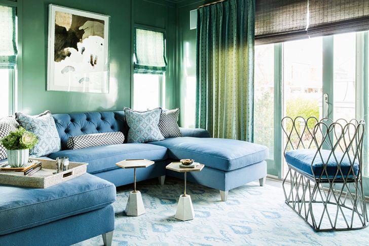 Бело-голубой интерьер в доме на берегу океана | Пуфик - блог о дизайне интерьера