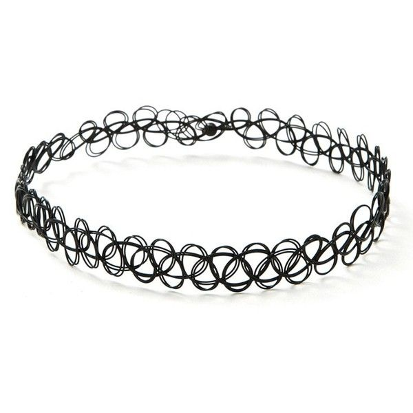 Forever21 Tattoo Choker ($2.90) ❤ liked on Polyvore featuring jewelry, necklaces, choker necklace, forever 21, forever 21 choker, tattoo choker and loop necklace