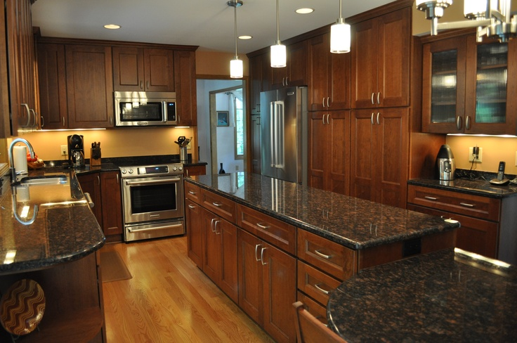 Black Granite Countertops With Oak Cabinets : Best images about kitchen ideas on pinterest cabinets