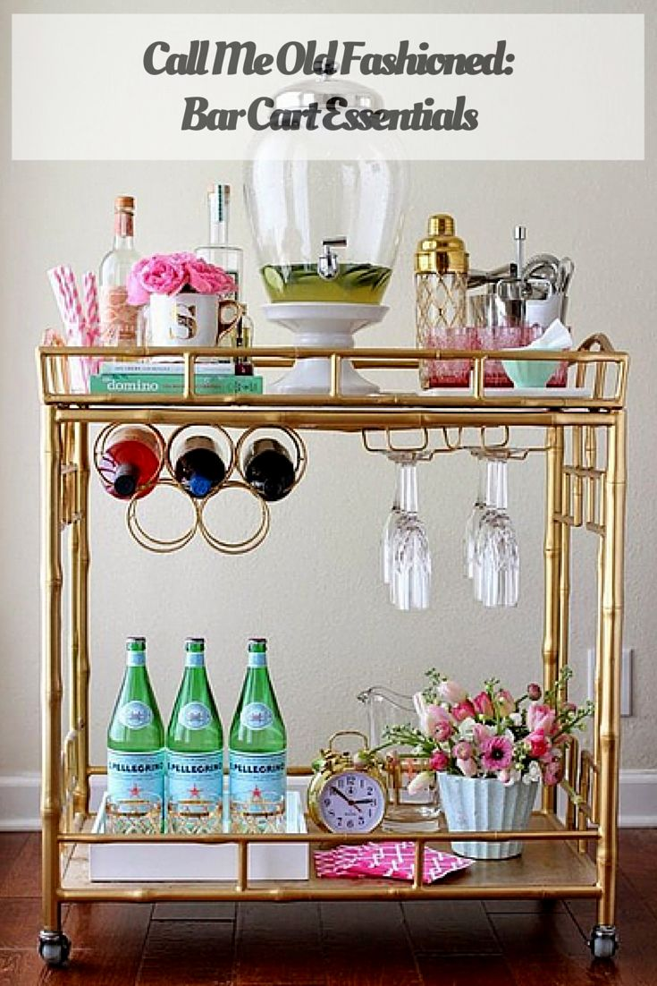 It may not be 5 o'clock, but it's never too early to wet your whistle with these bar cart essentials!