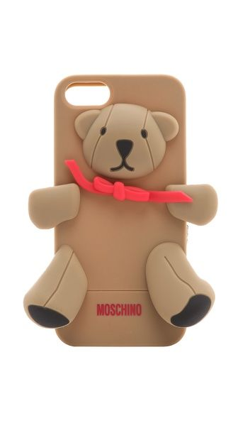 Moschino Bear iPhone 5 Cover - CUTE ALERT! Ok, so it is not much of a jewelry per se, but it is still an accessory and therefore should be pinned on this board. lol, not very practical either, but so cute~!