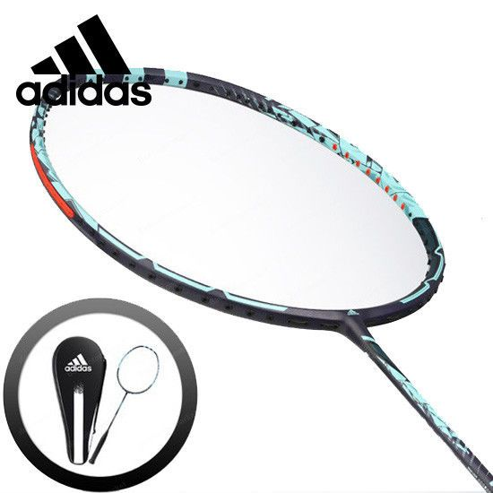 adidas Badminton Racket WUCHT P3 Blue Black Racquet String with Cover RK705511 #adidas