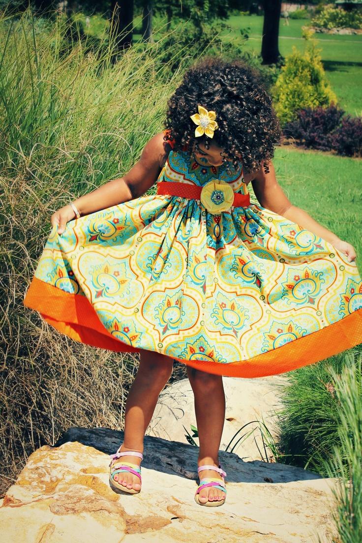 GIRLS FALL DRESS... Pumpkin Spice Dress....Girls adjustable strap dress. $54.00, via Etsy.