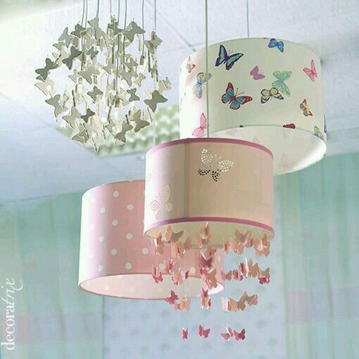 Lámparas con  colgante mariposa