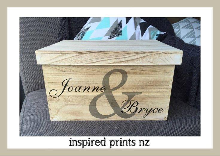 Personalised keepsake wedding box