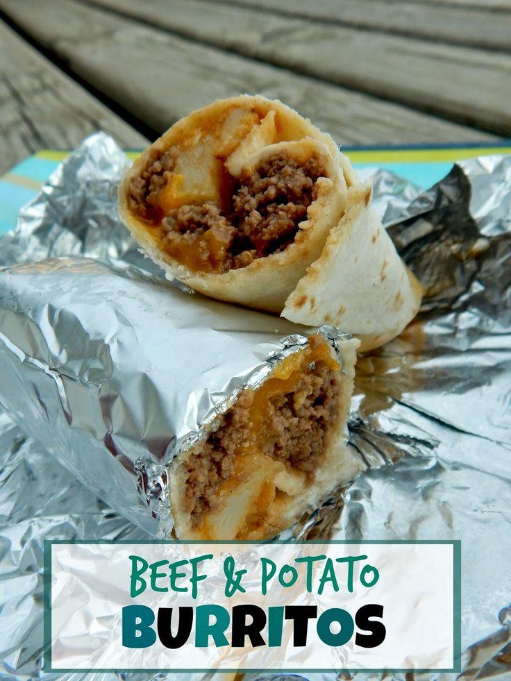 Ally's Sweet and Savory Eats: Beef & Potato Burritos