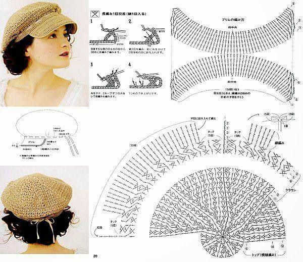 Su Crochet: gorros y sombreros para el sol | Gorros - Hats by Noemi ...
