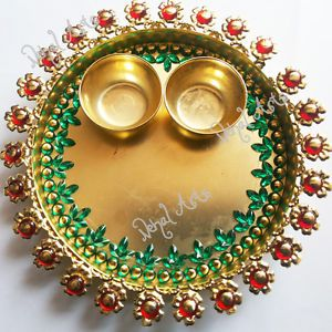 158 best images about indian festival decor on pinterest for Aarti thali decoration with clay