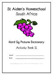 G - Alphabet Picture Dictionary Workbooks/Activity Books, Freebies, download one or download all #Homeschool #education
