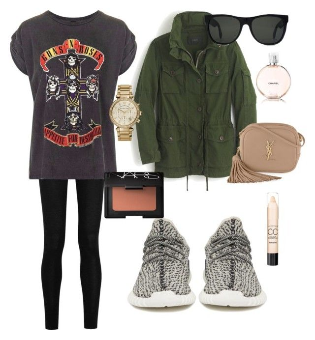 """""""Comfy Fall Day"""" by kenzieshae-1 on Polyvore featuring adidas Originals, Donna Karan, J.Crew, Topshop, RetroSuperFuture, Yves Saint Laurent, Michael Kors, Chanel, NARS Cosmetics and Max Factor"""