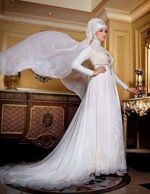 baju kebaya pengantin muslim warna putih Kebaya