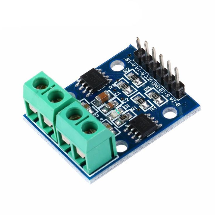 H-Bridge Motor Controller HG7881. Dedicated motor driver chip to directly control two DC motors with drive current up to 2A. Stack design can be plugged directly into microcontroller. Each channel has a 800mA continuous output current capability. SALE PRICE: $4.95