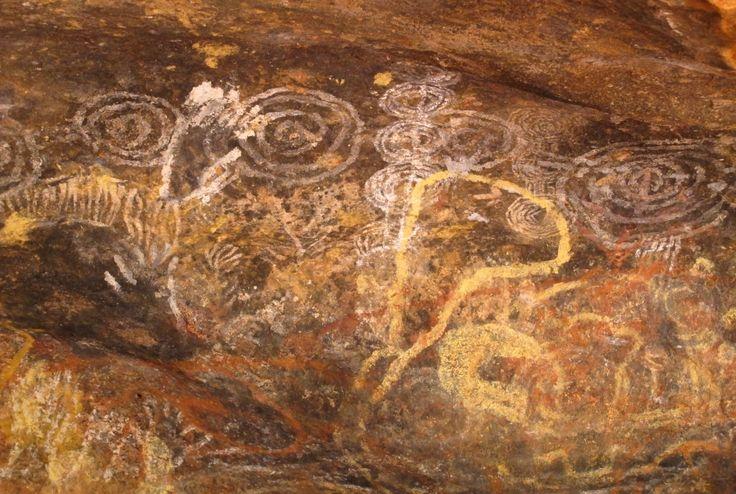 Cave painting, Mutitjulu waterhole, Uluru.