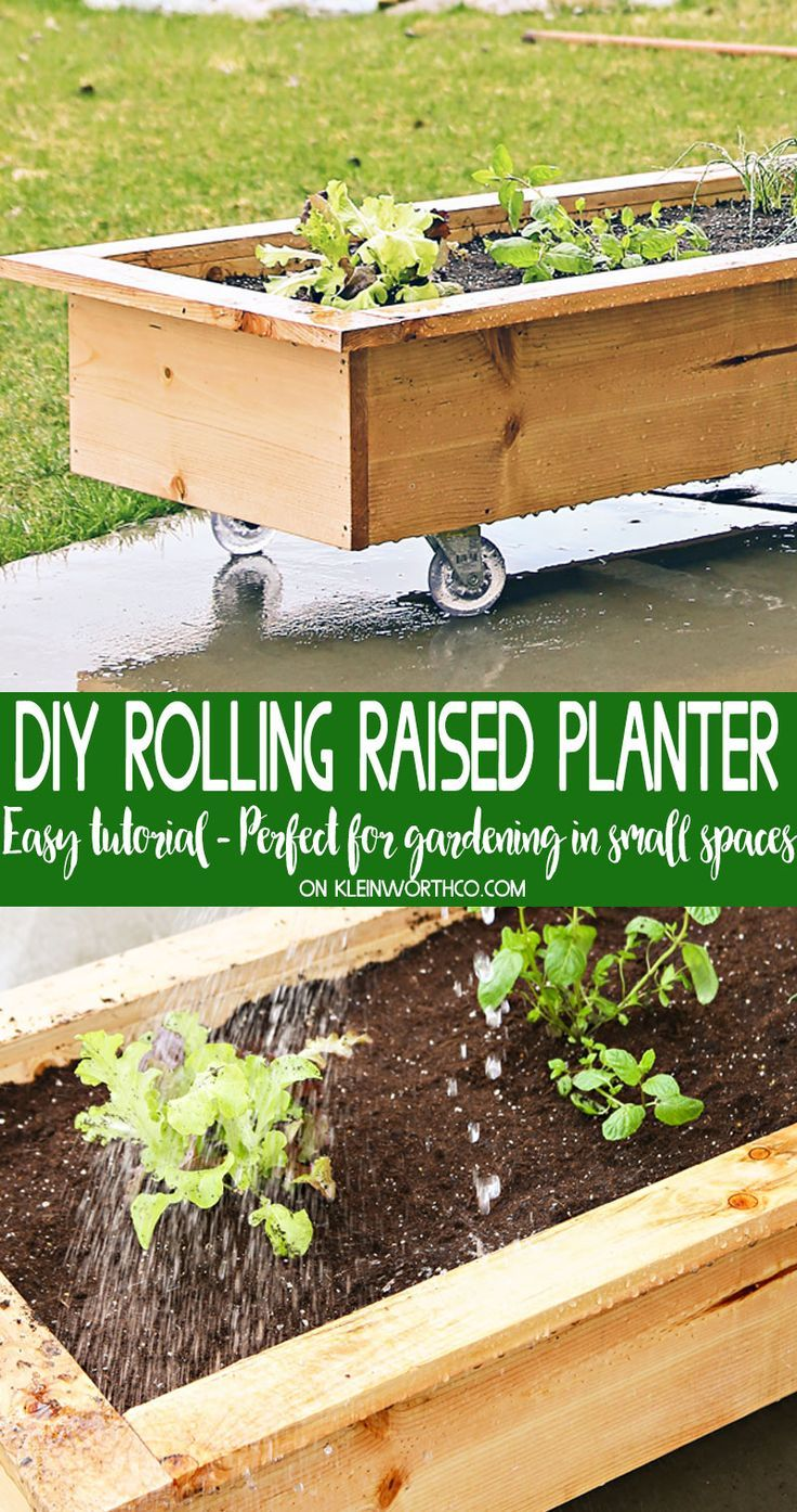 Diy Rolling Planter Box Is A Simple Easy Home Project With A