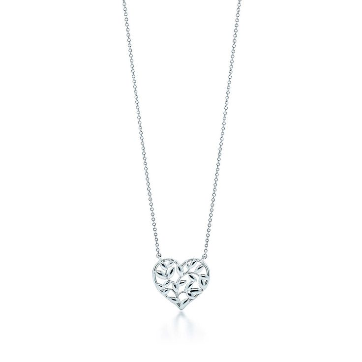 Paloma Picasso® Olive Leaf heart pendant in sterling silver.