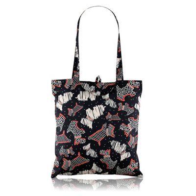 Radley Black 'Fleet Street' foldaway tote bag | Debenhams