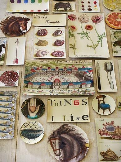Decoupage plates by John DerianDecoupage Glasses, Decor Ideas, Derian Plates, Zsa Zsa Bellagio, John Derian Decoupage, Company'S Zsazsabellagio, Art, Decoupage Plates, Crafts