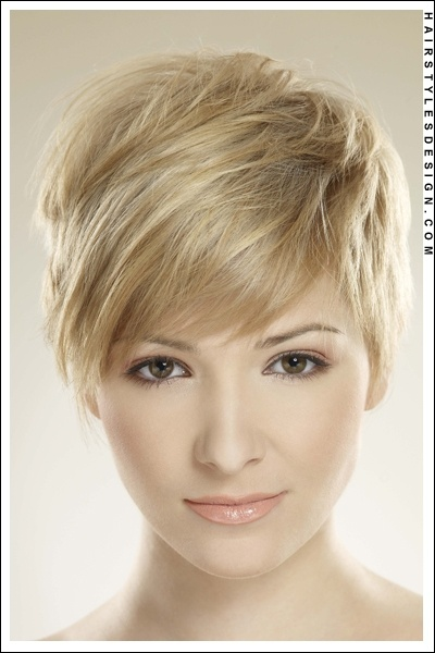 Hair Style This is a really cute look as this woman s short layered hair