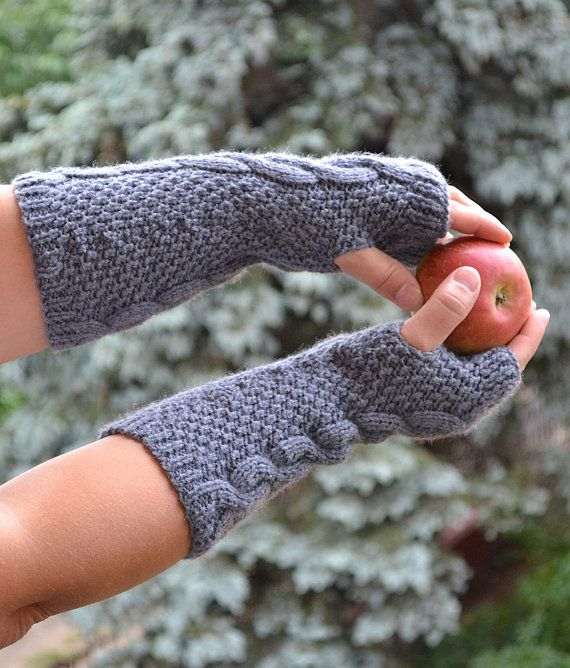 Knitted mittens gloves mitts glove mitten by DosiakStyle on Etsy
