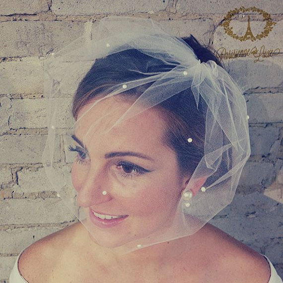 how to make tulle birdcage veil