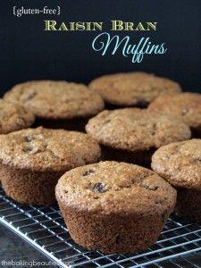 Gluten Free Raisin Bran Muffins from The Baking Beauties