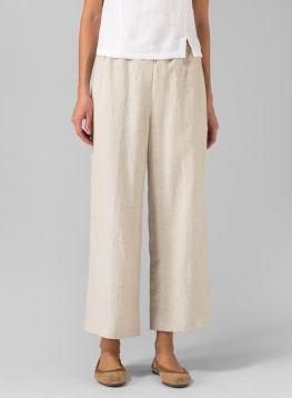 PLUS Clothing - Linen Double-Layer Wrap Top