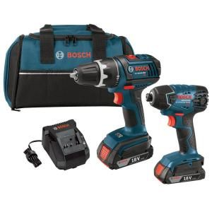 Bosch 18 Volt Lithium-Ion Cordless Drill/Driver and Impact Driver Combo Kit with 2.0Ah Battery (2-Tool)-CLPK232-181 - The Home Depot