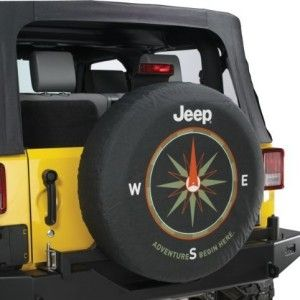 Jeep Wrangler ADVENTURES BEGIN HERE OEM Jeep Spare Tire Cover