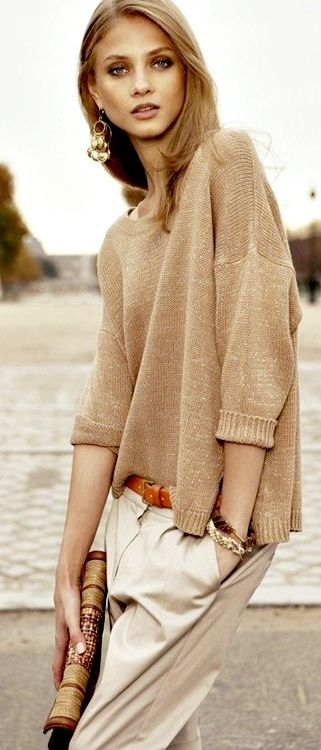 ♥ ℒℴvℯly knit + trousers