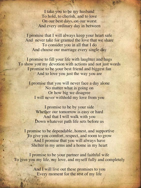 Traditional Wedding Vows to Husband Make You Cry, How to