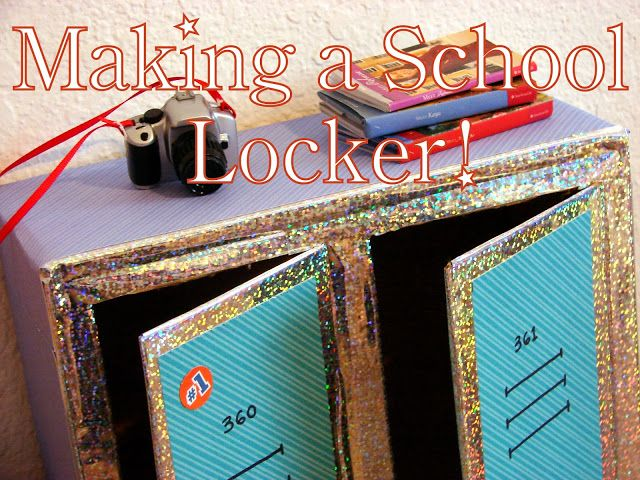 American Girl Doll Play: Doll Craft: Making a Set of School Lockers for Your Dolls