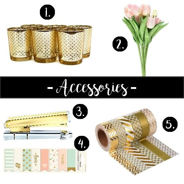 Chic accessories for your workspace! #chic #feminine #workspace #homeoffice