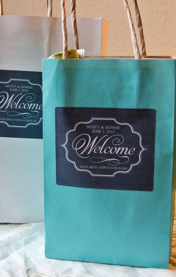 Custom Wedding Welcome Bag Labels 325 X 4 By SangriaStudios