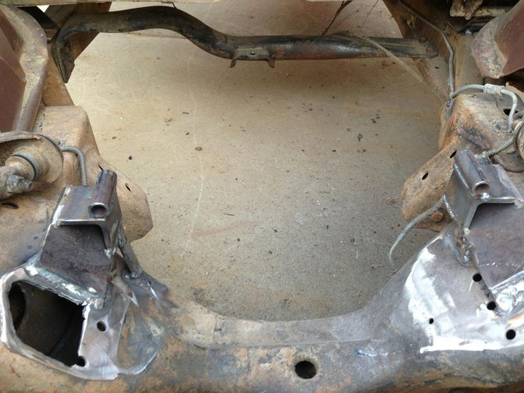 frame side S10 chassis swap LS motor mount plates simple