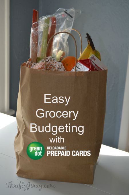 Budget for grocery shopping using the Green Dot Reloadable Prepaid Visa Card, part of the VisaClearPrepaid program. Keeping a budget when shopping for food can help you save money. #AD LINK: http://thriftyjinxy.com/easy-grocery-budgeting-with-green-dot-reloadable-prepaid-visa-cards/