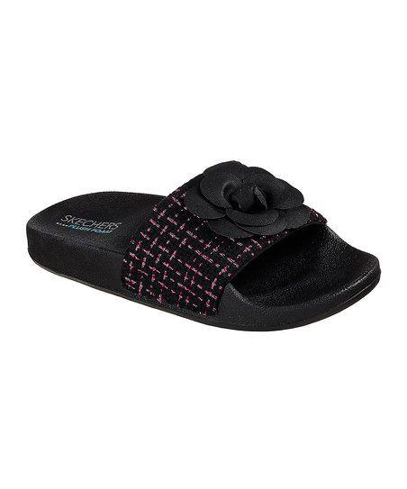 Skechers Black Pop Ups Camp Chic Sandal | zulily