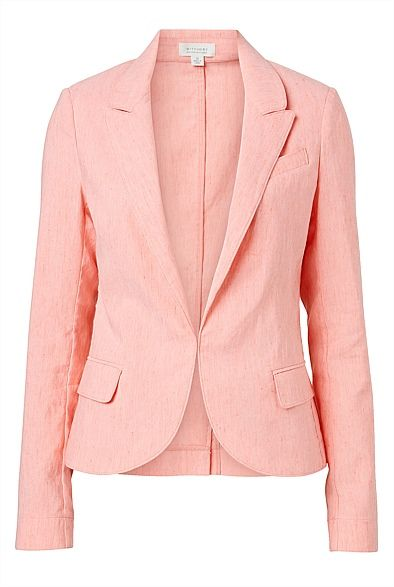 Classic Linen Blazer / Coral | Women's Clothing by Witchery Online #witcherywishlist