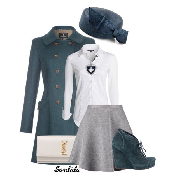 Jackie O Inspired by sordida on Polyvore featuring NIC+ZOE, Tiger of Sweden, Jenni Kayne, Yves Saint Laurent, Marie Claire and Whiteley