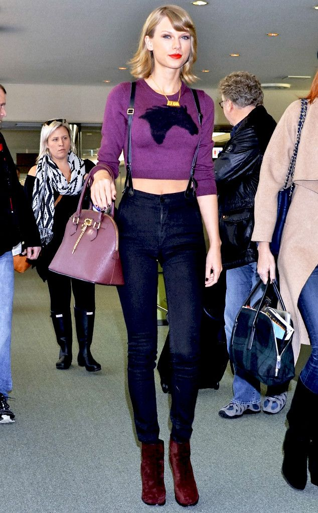 Taylor Swift is rocking some major suspenders and looking fabulous while doing it!