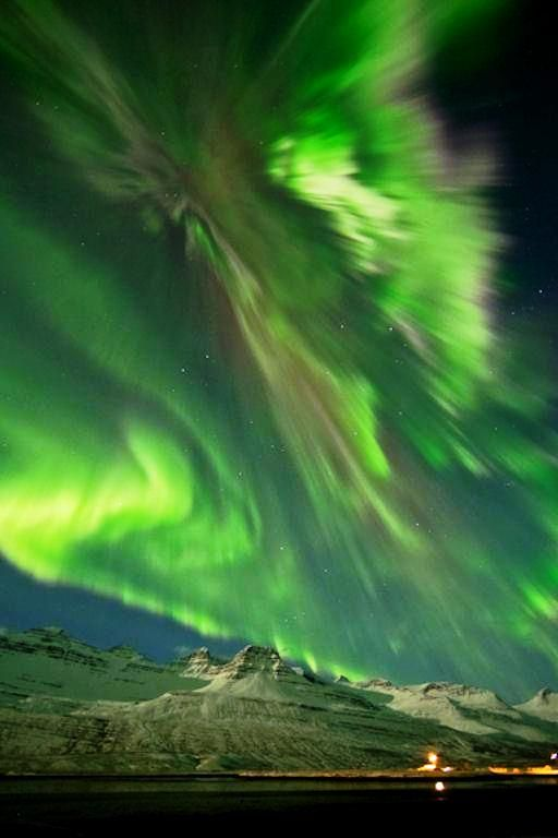 Last night's solar storm in Iceland.