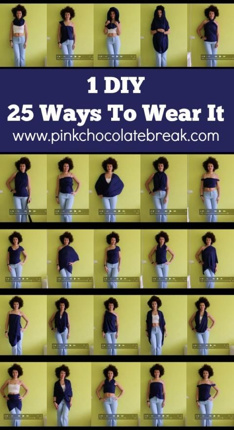 diy convertible clothing one item 22 ways to wear it travel clothes - pinkchocolatebreak.com