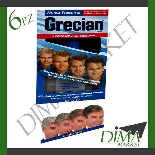 6 PEZZI GRECIAN 2000 125ML LOZIONE BALSAMO RIDONA GRADUALMENTE COLORE NATURALE