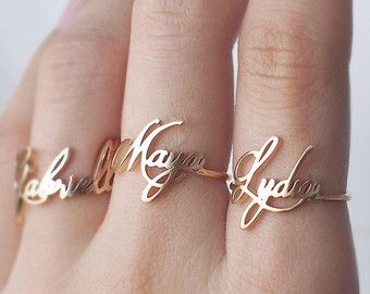 20% OFF Personalized Name Ring Custom by GracePersonalized