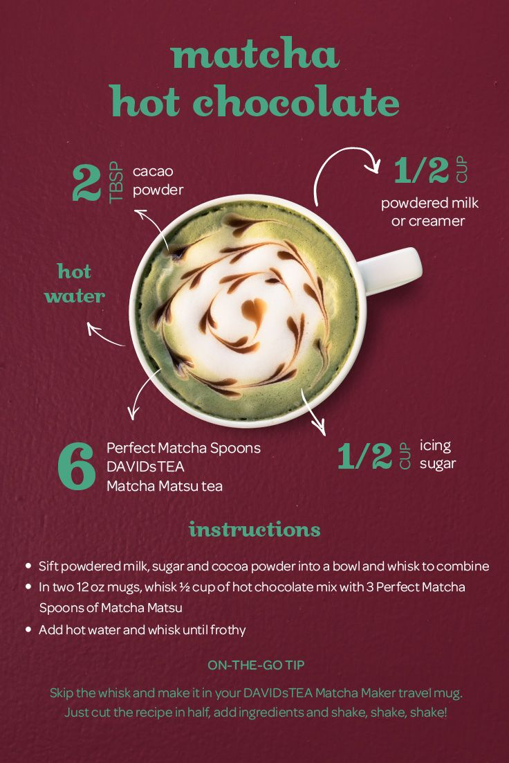 Matcha hot chocolate recipe