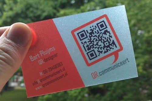 Ótima opção de cartão de visita com QR Code.