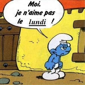 La n gation schtroumpf fle grammaire negation pinterest poster mondays and i hate mondays - Schtroumpf grincheux ...