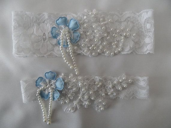 Wedding Garter, Wedding white Stretch Lace Garter, Rhinestone savaroski stone Bridal Garters