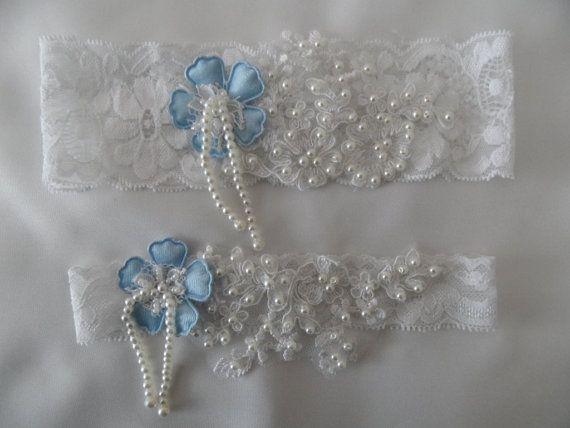 Wedding Garter, Wedding white Stretch Lace Garter, Rhinestone savaroski stone Bridal Garters